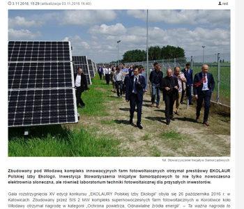 Kompleks innowacyjnych farm słonecznych – laboratorium fotowoltaiki