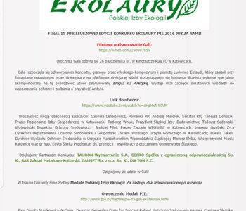 """Relacja z gali """"Ekolaury 2016"""""""
