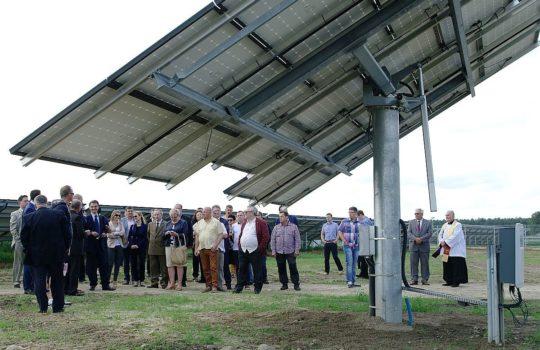 Dokonaliśmy otwarcia najnowocześniejszych w Polsce elektrowni słonecznych