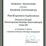 Nagroda Gospodarcza Starosty Włodawskiego.