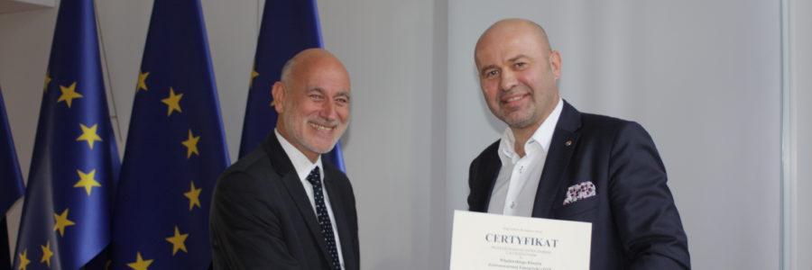 Mamy Certyfikat Ministerstwa Energii i wyróżnienie !