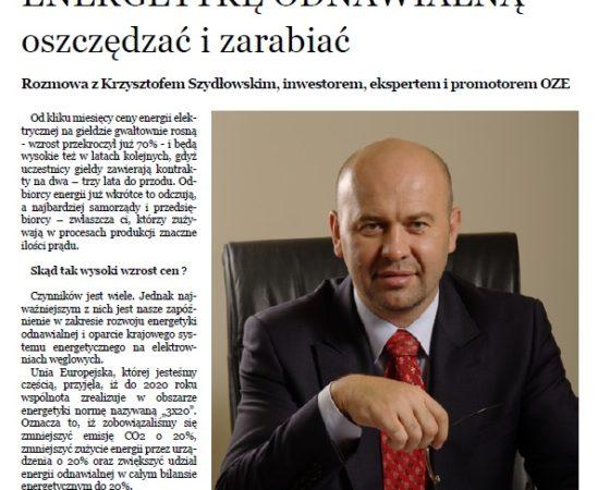 Czas inwestycji w OZE